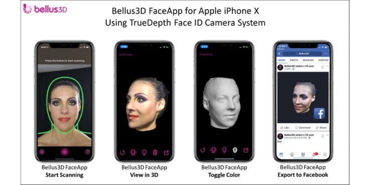 Mit der App ist das Einscannen des Gesichts möglich