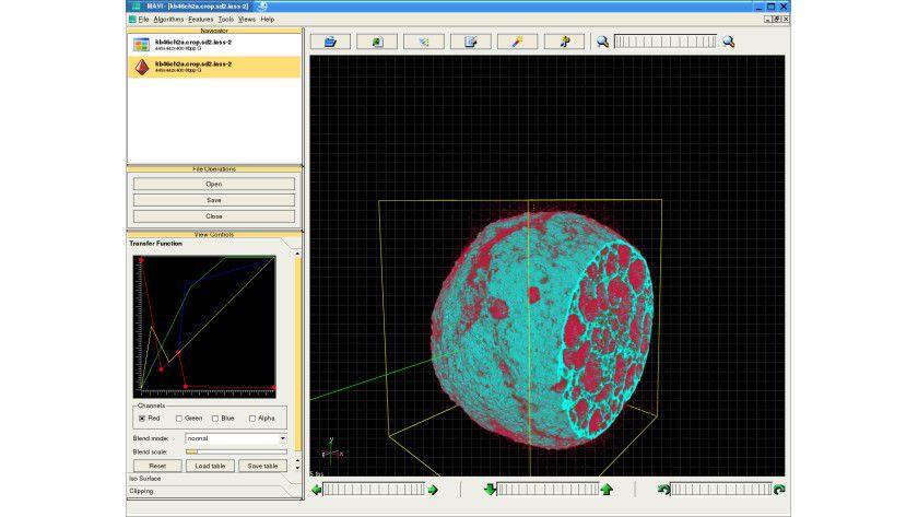MAVI ist für dreidimensionale Bilder unterschiedlicher Strukturen geeignet. Abb.: Fraunhofer Institut Techno- und Wirtschaftsmathematik.