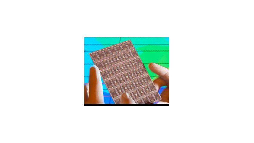 Bestückte Leiterplatte in CiP-Technologie. Foto: IZM