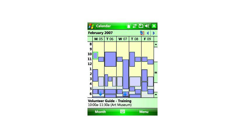 Kalender: Die neue Kalenderansicht. (Quelle: Microsoft)