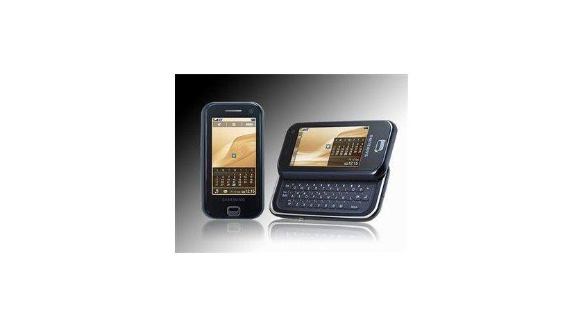 Touchscreen und Tastatur: Das Samsung F700 zeigt sich universell.