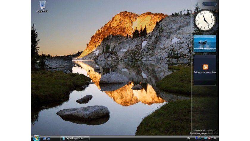 Bild 1: Die neue, bunte Oberfläche von Windows Vista.