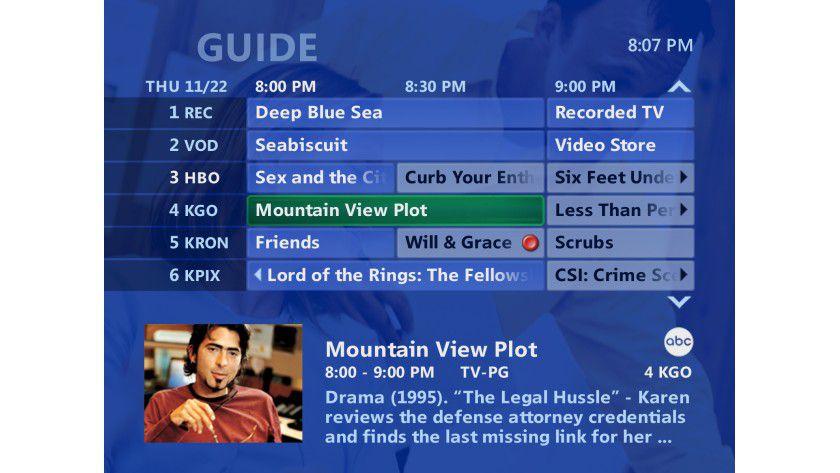 Überblick: Microsoft TV ähnelt bekannten Oberflächen, etwa dem Media-Center, soll aber deutlich schneller sein. (Quelle: Microsoft)