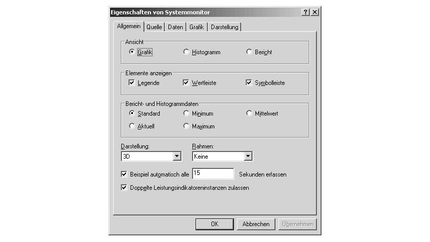Bild 3: Die Eigenschaften des Systemmonitors.