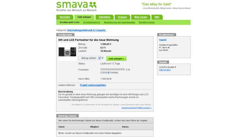 """P2P-Kredite: Die Plattform von smava bringt Kreditnehmer und """"Investoren"""" zusammen."""