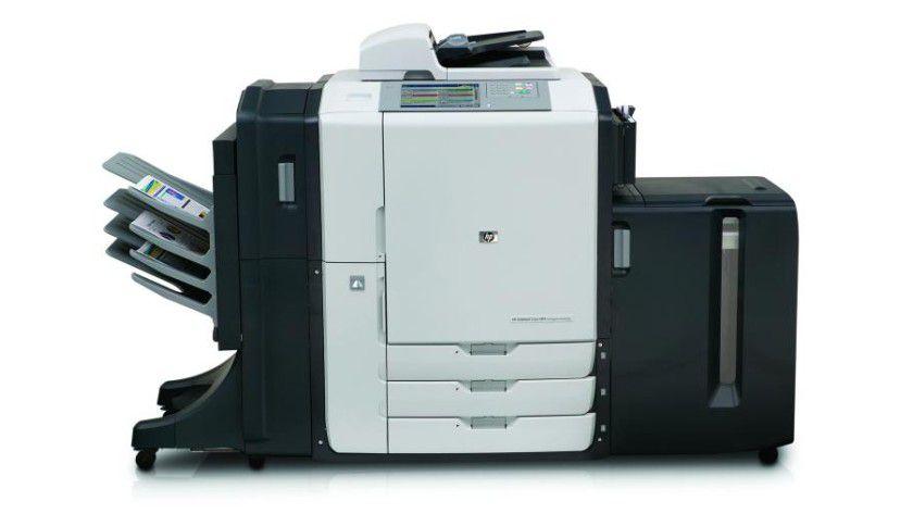 HP CM8060 MFP: Sieht aus wie ein Kopiererbasiertes Multifunktionssystem, arbeitet aber mit HP Edgeline Technologie und Tinte. (Quelle: Hewlett Packard)