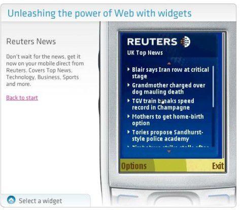 Info-Portal: Eine weitere sinnvolle Widget-Anwendung sind beispielsweise einfache RSS-Reader.