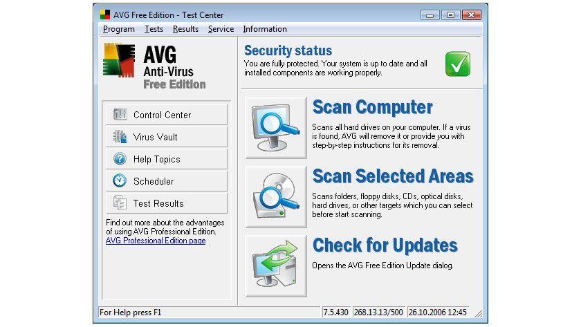 AVG Anti-Virus Free: Nun auch für kleine Unternehmen. (Quelle: AVG)
