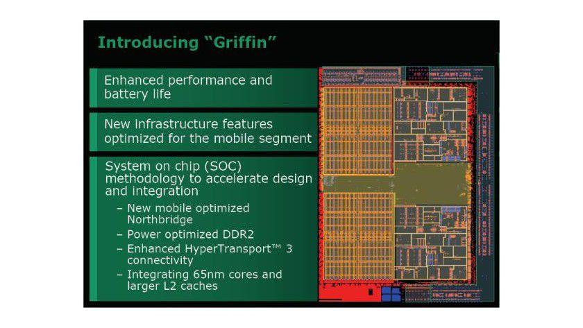 Griffin: Neue Features sollen für eine längere Laufzeit bei Notebooks sorgen. (Quelle: AMD)
