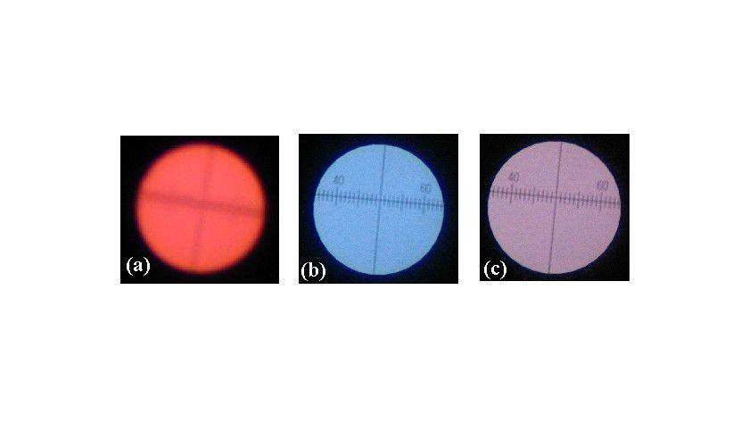 Photographische Aufnahme der Mehrfarben-Lichtquelle Abb.: FZD