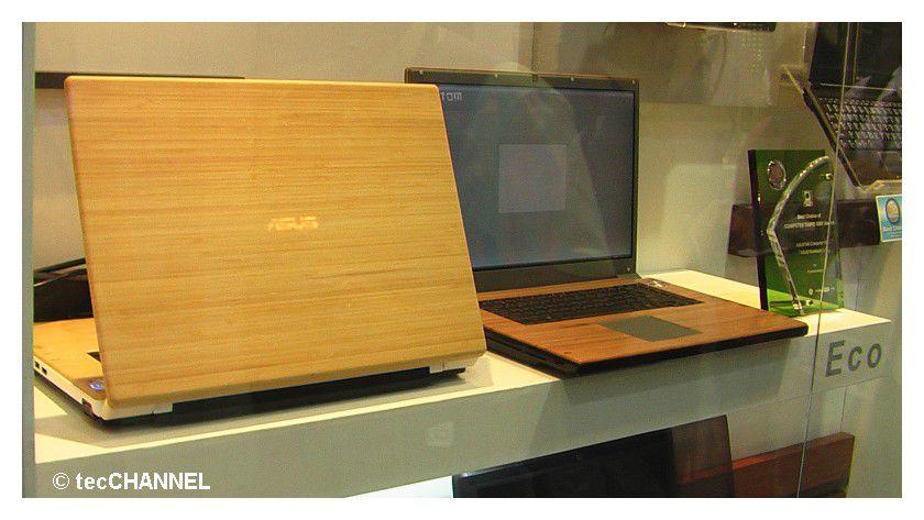 Holz-Art: Asus verpasst den Notebooks ein edles Holzdesign und folgt damit, dem allgemeinen Trend ein individuelles Notebook zu besitzen.