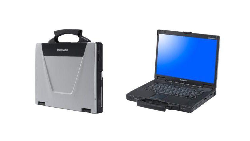 Markant: Am ausklappbaren Tragegriff leicht zu identifizieren – das semi-ruggedized Notebook Toughbook CF-52. (Quelle: Panasonic)
