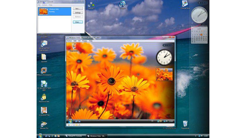 Vista im Vista: Mit Virtual PC bringt Microsoft eine kostenlose Virtualisierungslösung.