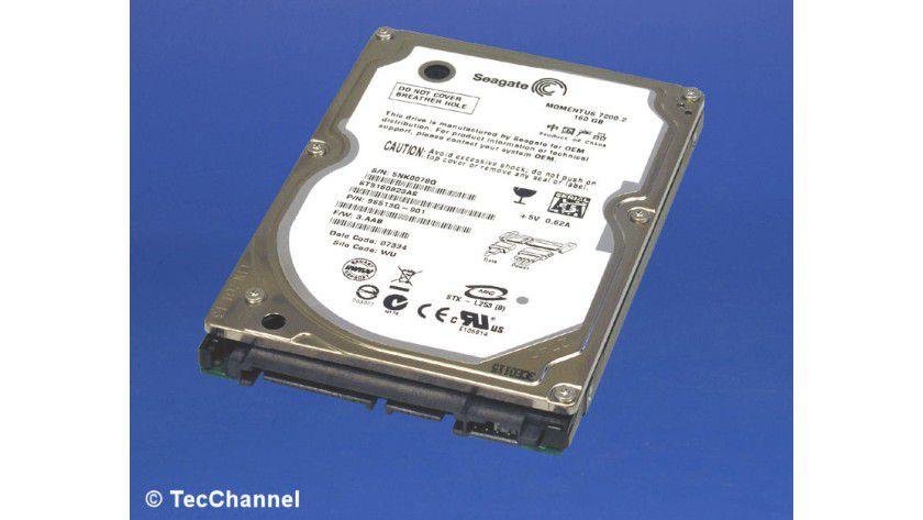 Seagate Momentus 7200.2 ST9160823AS: 160 GByte Kapazität