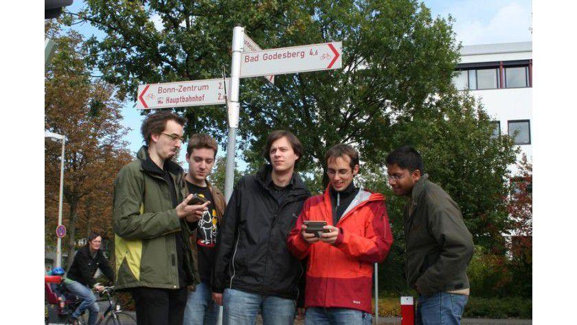 Auf der Suche nach Mr. X in Bonn. Foto: Pascal Bihler