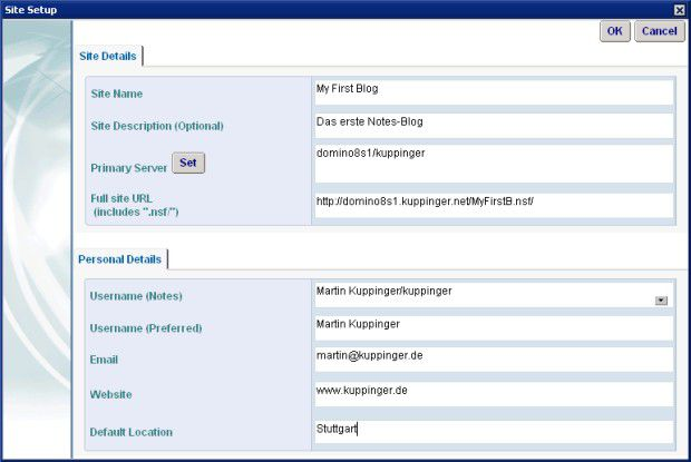 Hilfsbereit: Ein Assistent unterstützt bei der Konfiguration des Blogs.