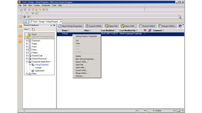 Modular: Mit den sogenannten Composite Applications können Anwendungsmodule von Lotus Domino und anderen Entwicklungsumgebungen integriert werden.