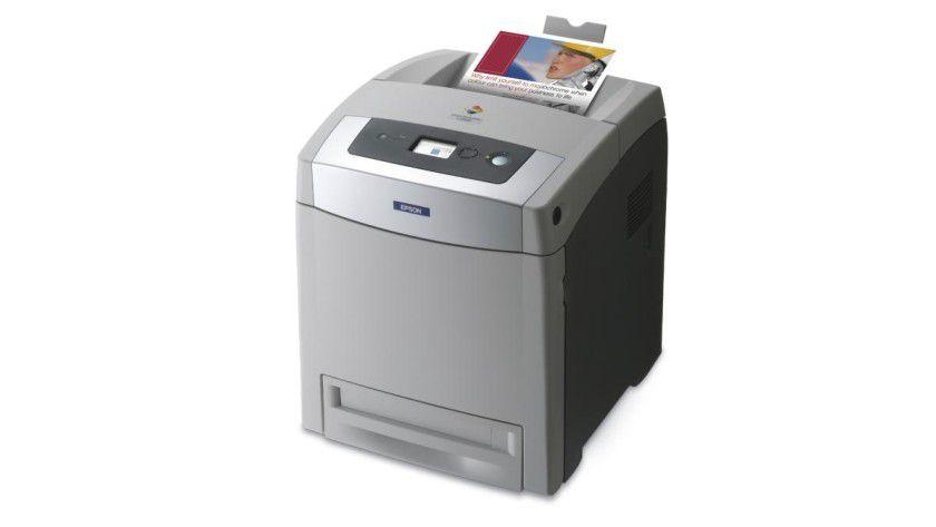 Epson AcuLaser C2800: Bis zu 20 Farbseiten pro Minute soll der netzwerkfähige Farblaser produzieren. (Quelle: Epson)