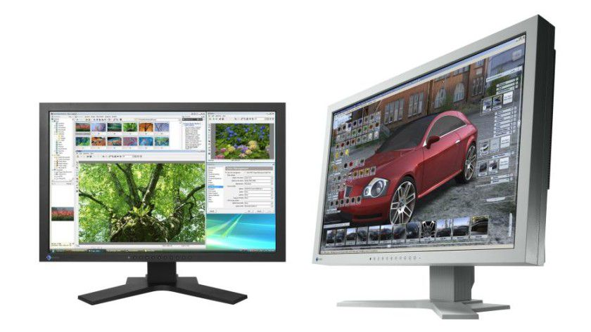 Eizo SX2461W und SX2761W: Beide neuen Displays arbeiten mit 1920 x 1200 Bildpunkten. (Quelle: Eizo)