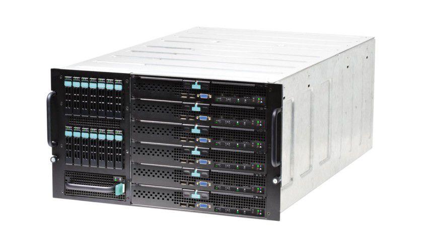 Modular Server: Intel stellt mit dem Modular Server eine neue Produktfamilie vor. (Quelle: Intel)