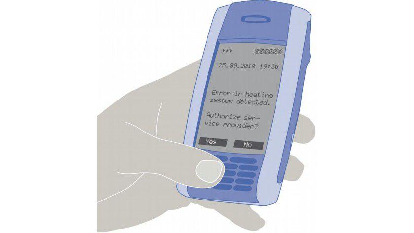 Die Middleware informiert den Nutzer per SMS. Die Kommunikation ist abgesichert. Abb.: Fraunhofer-Institut SIT