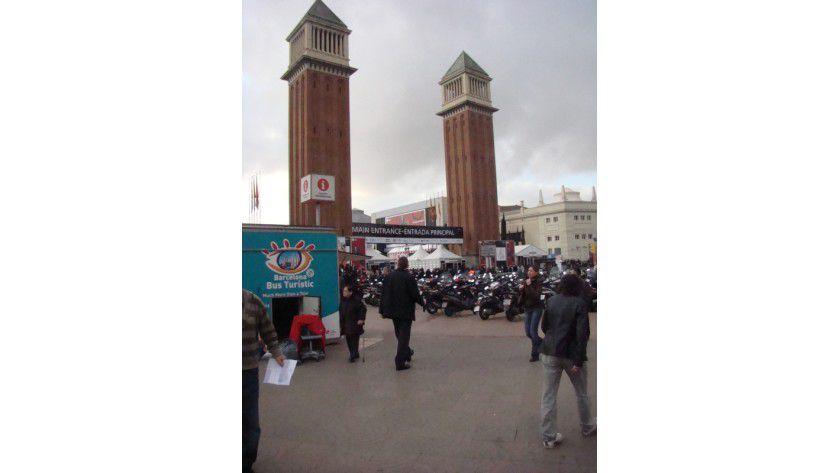 Entrada: Der Haupteingang zum Mobile World Congress, direkt am Placa Espanya.