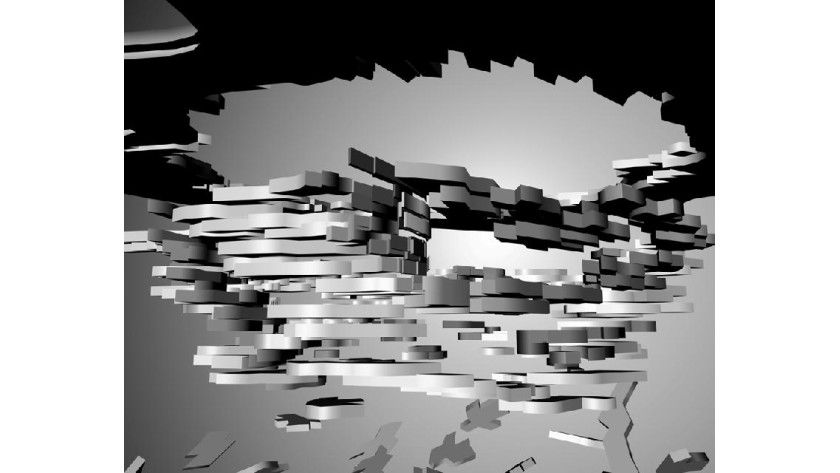 """cubedeform"" - Bildsequenz aus Computeranimation, Renderings. Abb.: Prof. Wolfgang Höhl"