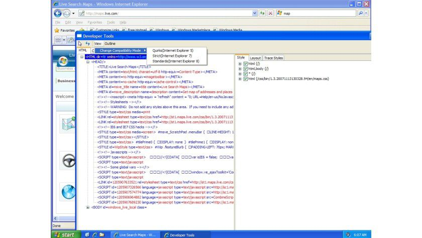 Developer Tools: Der Nutzer entscheidet, welche Engine der Browser für das Rendering einsetzt.