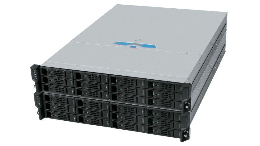 Storage-Cluster: Der Xanthos Storage-Cluster der Firma ICO ist für den iSCSI-SAN-Bereich konzipiert worden. (Quelle: ICO)