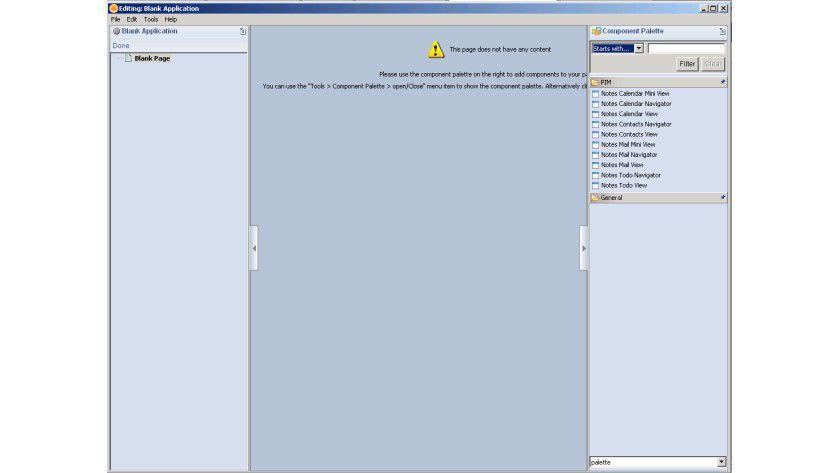 Einfache Anwendungen: Mit dem Composite Application Editor lassen sich relativ einfach zusammengesetzte Anwendungen erstellen.
