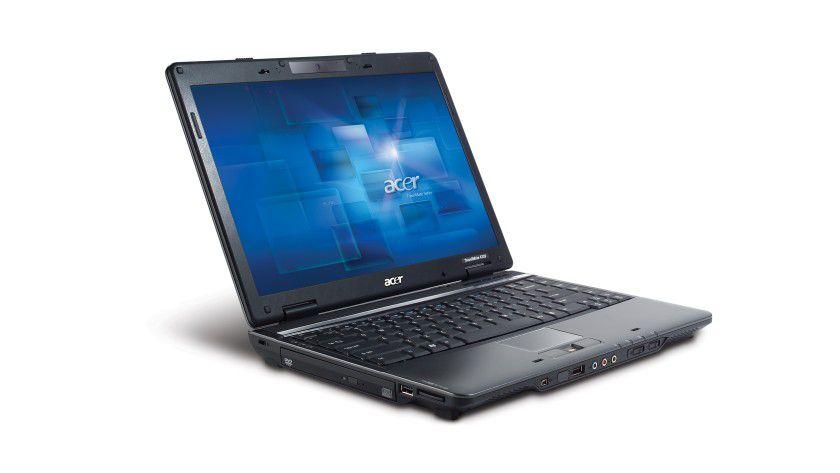 TravelMate 4720: Das 14,1-Zoll-Display arbeitet mit WXGA-Auflösung. (Quelle: Acer)