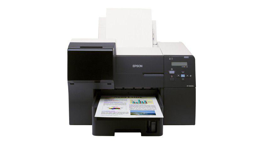 Epson B-500DN: Der tintenbasierte Drucker kommt mit Netzwerkanschluss und serienmäßiger Duplexeinheit. (Quelle: Epson)