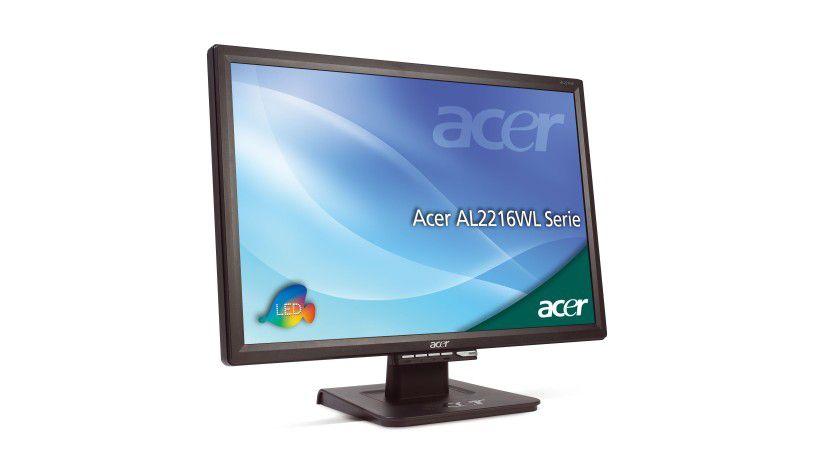 Acer AL2216WLsd: Das 22-Zoll-Display arbeitet mit einer Auflösung von 1680 x 1050 Bildpunkten. (Quelle: Acer)
