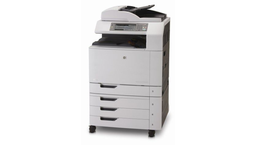 HP Color LaserJet CM6040 MFP: Das Multifunktionssystem druckt bis zu 41 A4-Seiten pro Minute. (Quelle: Hewlett Packard)