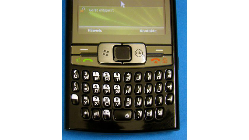 Palm-ähnlich: Die Tastatur ist gut gelungen und erinnert an die Palm-Smartphones.