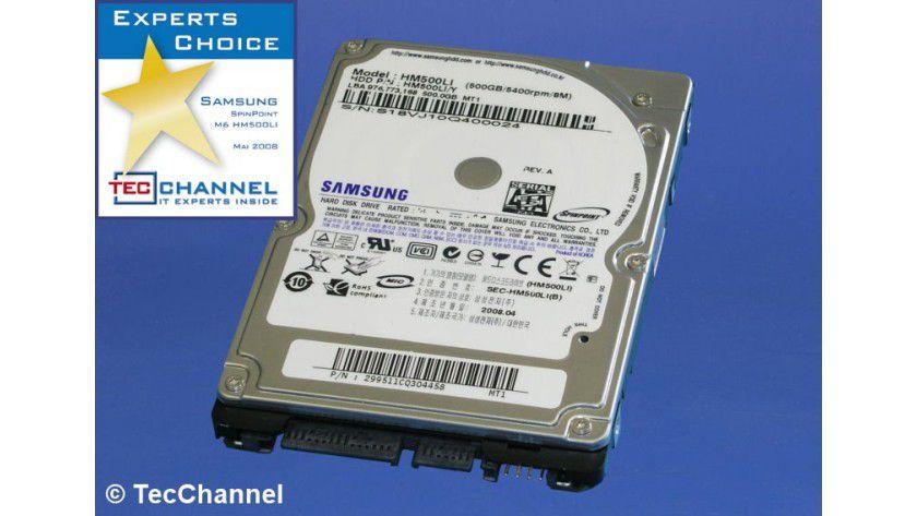 Samsung SpinPoint M6 HM500LI: 500 GByte Kapazität