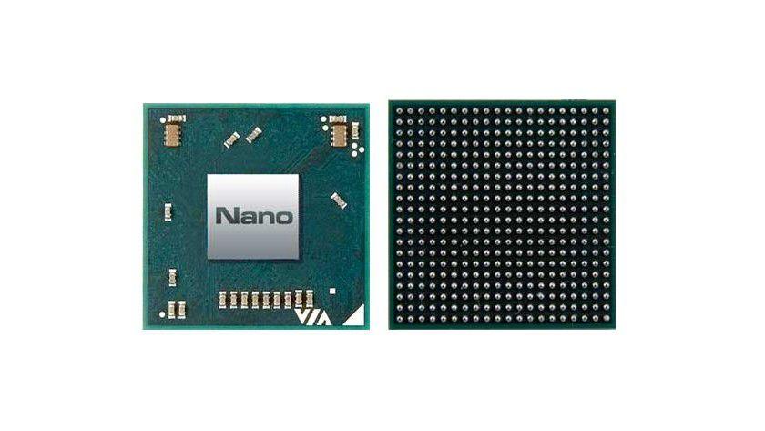 VIA Nano: Die 64-Bit-CPU setzt auf die neue Isaiah-Architektur und arbeitet mit Taktfrequenzen von 1,0 bis 1,8 GHz. Dem FSB800-Prozessor spendiert VIA einen 1 MByte großen L2-Cache. (Quelle: VIA)