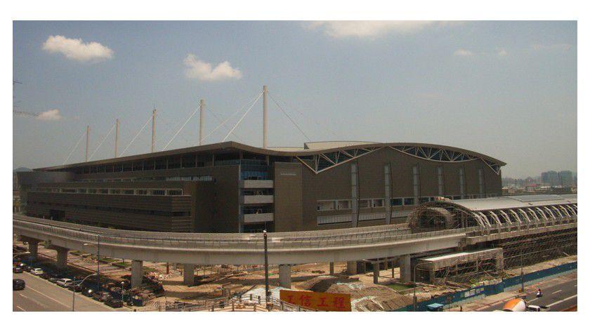 Neuer Standort: Die Computex 2008 expandiert und findet erstmals neben dem Messezentrum in Taipeh auch auf dem neuen Messegelände in Nangang statt.