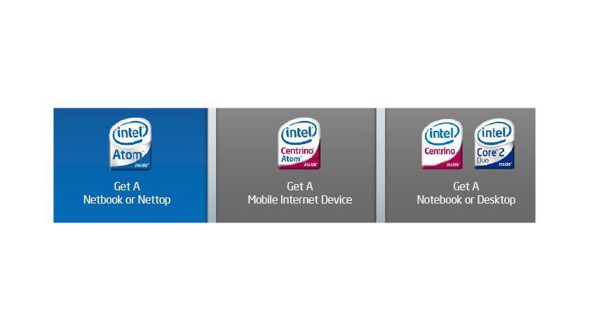 Gekennzeichnet: Die für unterschiedliche Einsatzgebiete gedachten Systeme sollen sich am jeweiligen Logo identifizieren lassen. (Quelle: Intel)