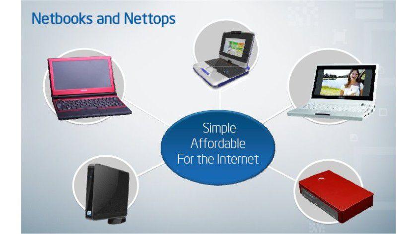 Netbook und Nettop: Auf Basis der neuen Plattformen sollen preiswerte stationäre und mobile Systeme zu realisieren sein. (Quelle: Intel)