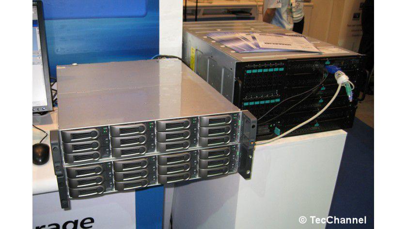 Speicher-Box: Der VTrack 310s dient als Storage-Erweiterung für Intels Modular Server und ist von Intel auch für diesen Zweck zertifiziert worden.