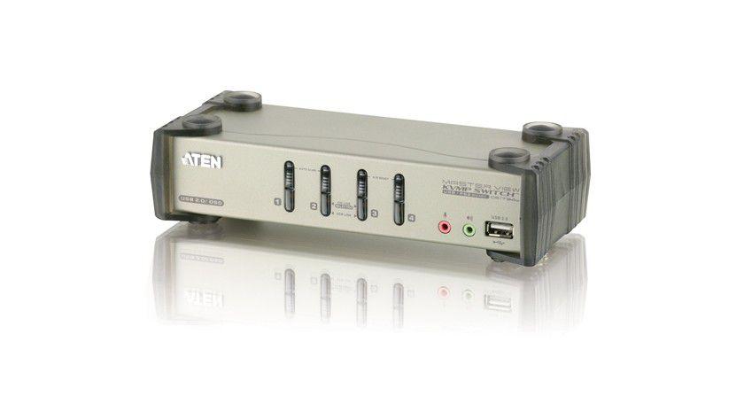 Umschalter: Mit dem KVM-Switch CS1734B lassen sich bis zu vier PCs über eine Konsole ansteuern.