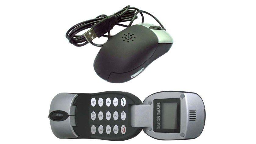 Hat es in sich: Maus mit VoIP-Telefon.