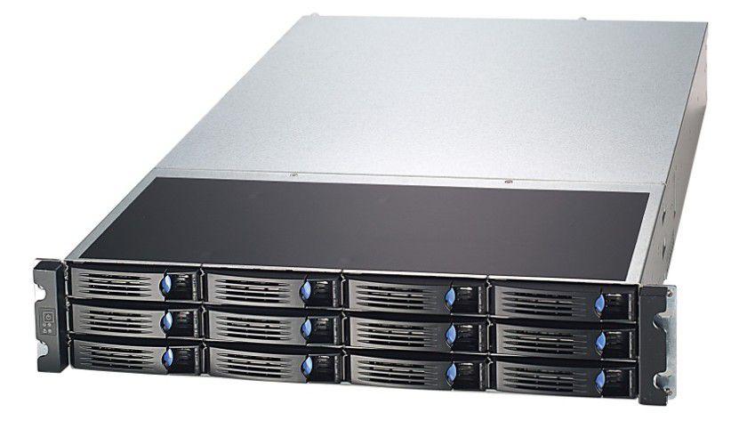 Storage-Server: Der Xanthos 256 kann bis zu 12 TByte SAS7SATA-Storage-Speicher verwalten. (Quelle: ICO)