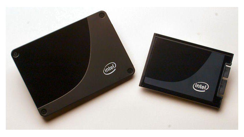 Intel X25-M und X18-M: Intel bietet seine SSDs im 2,5-Zoll- und 1,8-Zoll-Formfaktor für Notebooks und Desktop-PCs an. (Quelle: Intel)