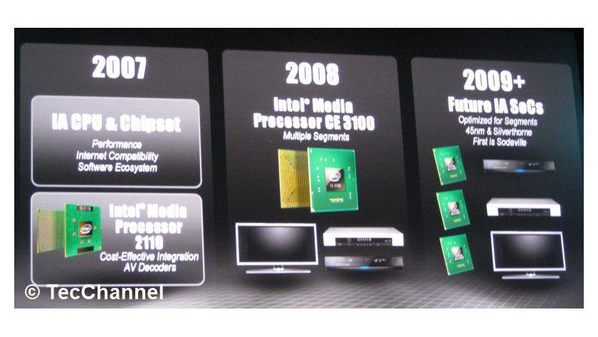 Schwenk auf Atom: Der Nachfolger des CE3100 wird auf dem Atom-Prozessor basieren und in 45-nm-Technologie gefertigt.