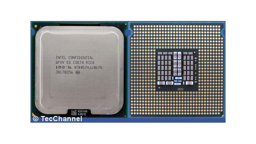 Energiesparer: Intels neuer Quad-Core-Prozessor Xeon L5430 arbeitet mit 2,66 GHz Taktfrequenz. Die 45-nm-CPU für den Sockel LGA771 ist mit nur 50 Watt TDP spezifiziert.