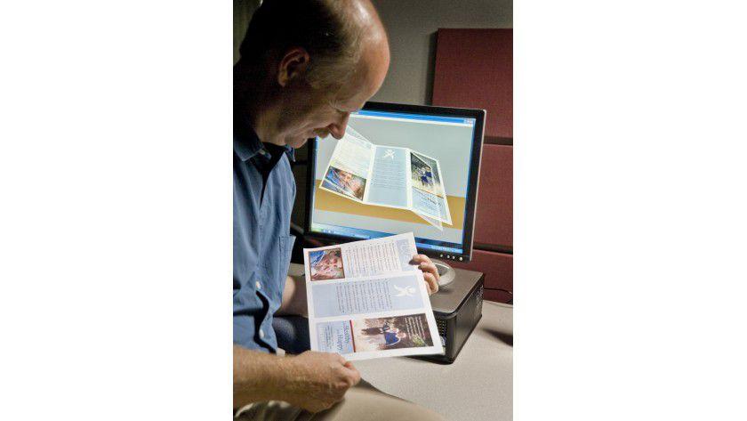 Vorabkontrolle: Mit der Visualisierungslösung soll sich das Druckprodukt vorab in einer 3D-Ansicht kontrollieren lassen. (Quelle: Xerox)