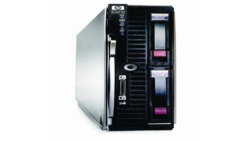 Ein Blade bitte: HP stellt den ersten NAS SAN Gateway Storage Server im Blade-Formfaktor vor. (Quelle: HP)