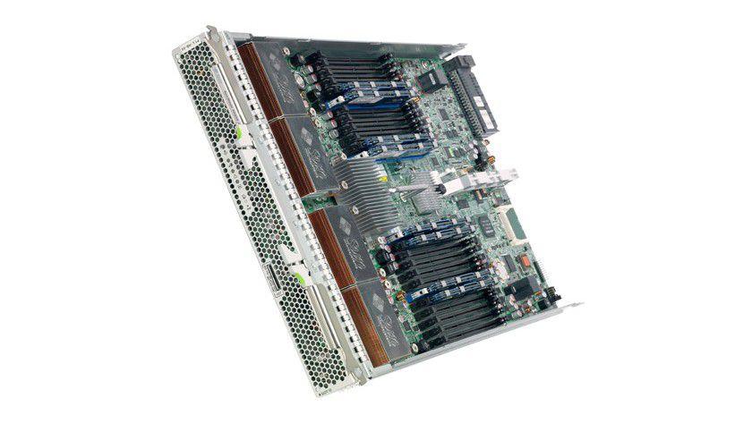 X6450-Blade-Server: Der neue Sun Blade X4650 Server arbeitet mit den neuen Intel 6-Core Xeon-CPUs. (Quelle: Sun)